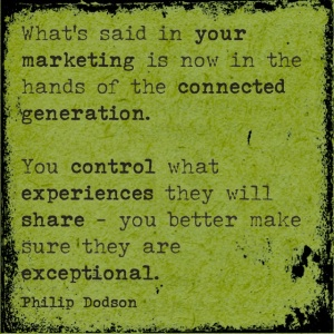 The connected generation